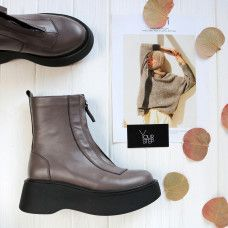 Ботинки из кожи оттенка какао Арт. As-11/261