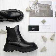 Ботинки Челси из черной кожи Арт. 12-1/267