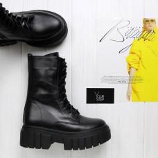 Ботинки из черной кожи Арт. 12-30/As27(б/ф)