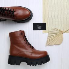 Ботинки из темно-рыжей кожи флотар Арт. As-8/21021