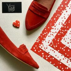 Балетки красного цвета Арт. 16-3