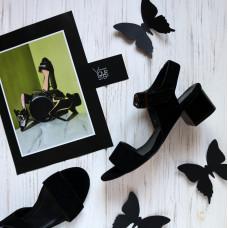 Босоножки из натуральной замши черного цвета Арт.: 415-1