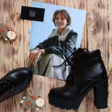 Ботинки из кожи цвета шоколад Арт. 18-10Al4-0010