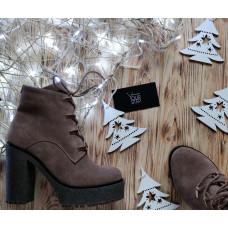 Ботинки из замши цвета капучино Арт. 18-10Al4-0010