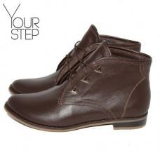 Ботинки на шнуровке цвета шоколад с фурнитурой Арт. 12-5F/12