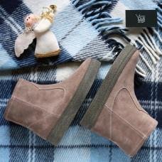 Ботинки из замши цвета капучино Арт. 12-19Ls