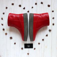 Ботинки из красной кожи Арт. 12-19Ls