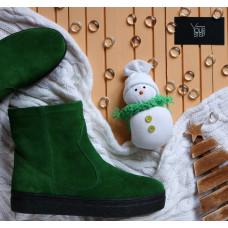 Ботинки из ярко-зеленой замши Арт. 12-19Ls