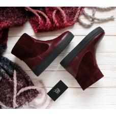 Ботинки бордового цвета Арт. 12-19Ls