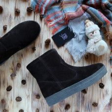Ботинки из замши цвета шоколад Арт. 12-19Ls