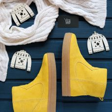 Ботинки из ярко-желтой замши Арт. 12-19Ls