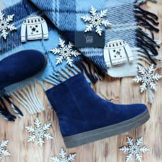 Ботинки из ярко-синей замши Арт. 12-19Ls