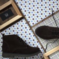Ботинки из замши цвета шоколад на коричневой подошве Арт. 12-20(Sn4)