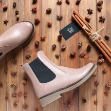 Ботинки челси из натуральной кожи темно-бежевого цвета 12-1(Sn4)