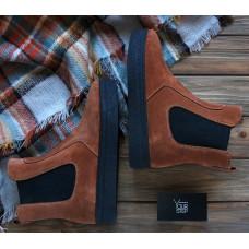 Ботинки челси из рыжей замши Арт. 12-1Ls