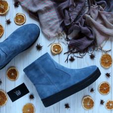 Ботинки из замши цвета джинс Арт. 12-19Ls