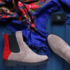 Ботинки челси из натуральной замши 12-1(Sn4)