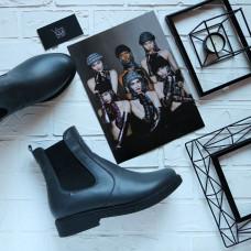 Ботинки челси из натуральной кожи цвета графит 12-1(Sn4)