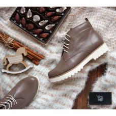 Ботинки из темно-бежевой кожи Арт. 12-20Se
