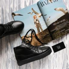 Ботинки из натуральной кожи черного цвета 05-11/21613