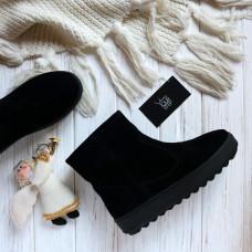Ботинки из черной замши 12-19(Ls6)