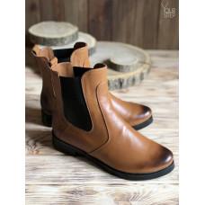 Ботинки челси из натуральной кожи рыжего цвета с эффектом потертости 12-1V