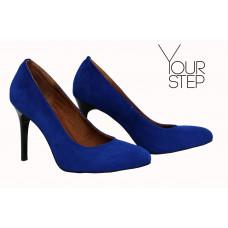 Туфли на шпильке из ярко-синей замши Арт. 95-1/35