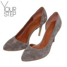 Туфли на шпильке из замши цвета капучино Арт. 35-5