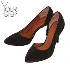Туфли на шпильке из замши цвета шоколад Арт. 35-5