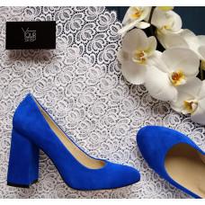Туфли ярко-синего цвета Арт. 95-1/44Ок