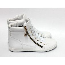 Ботинки из белой кожи Арт. 51-3L